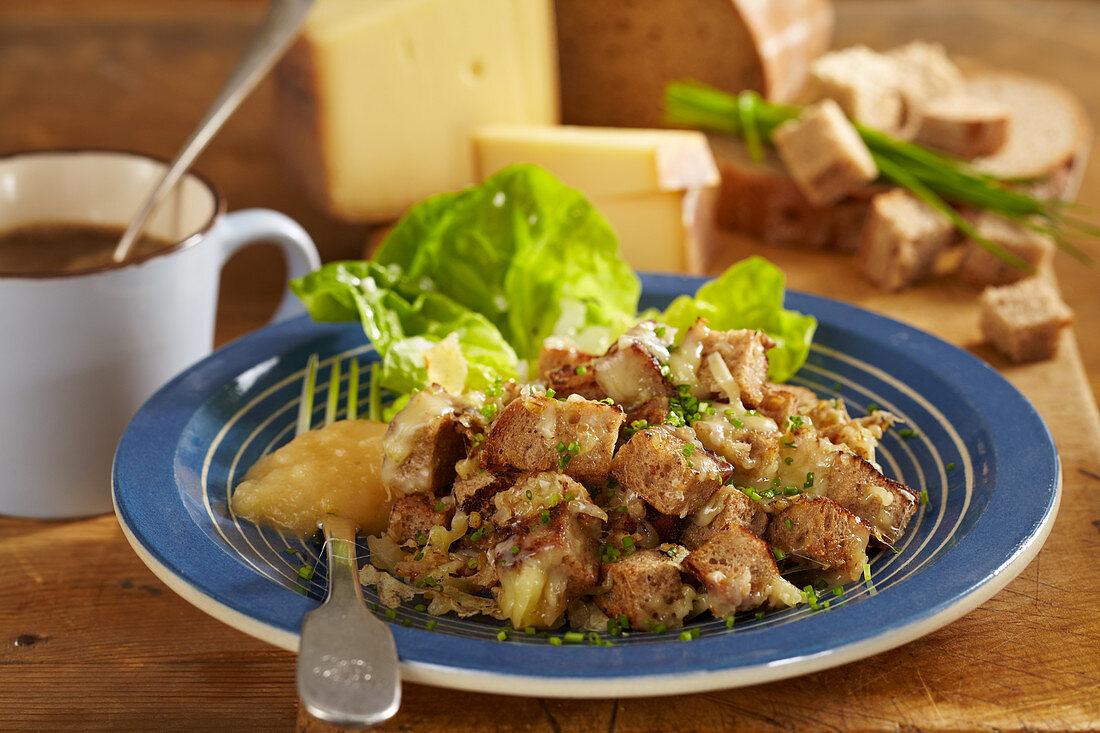 Old Maa (appenzeller bread salad, Switzerland)