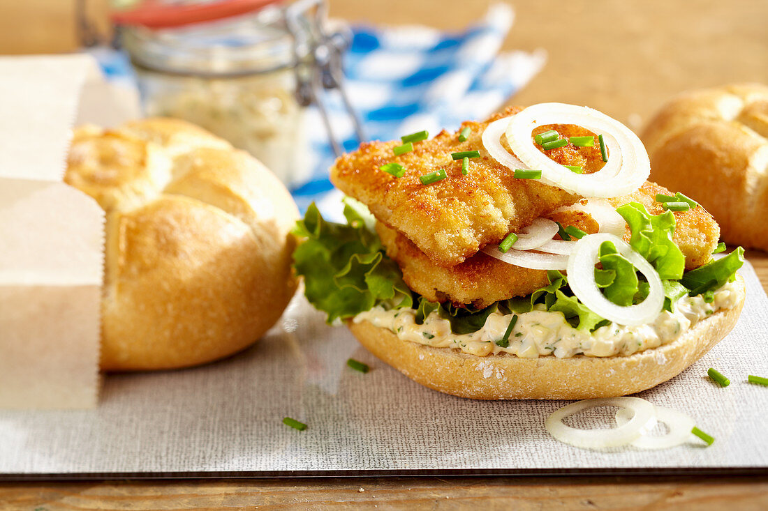 Baked fish with remoulade
