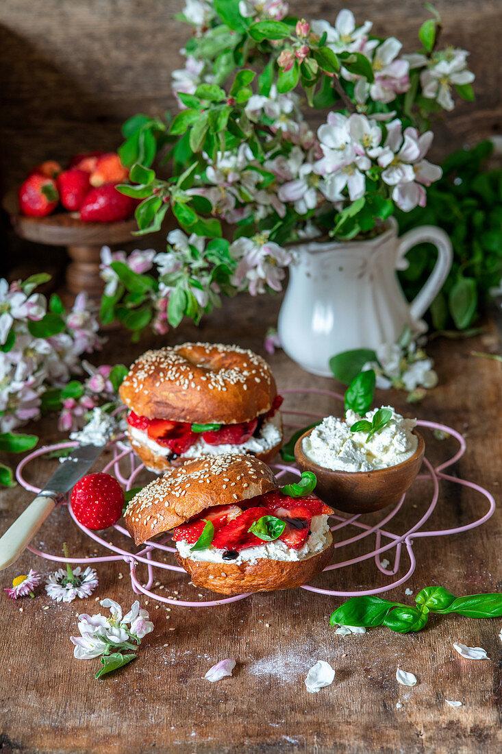 Apple strawberry strudel