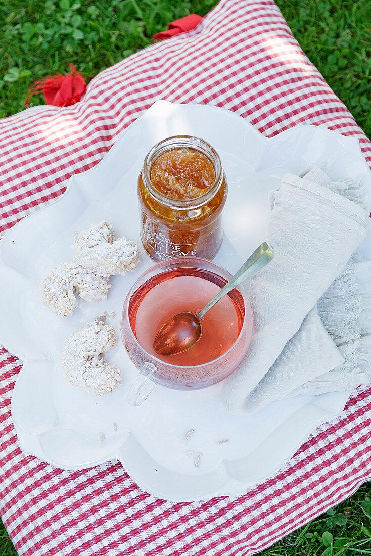 Lemon and rosemary jam