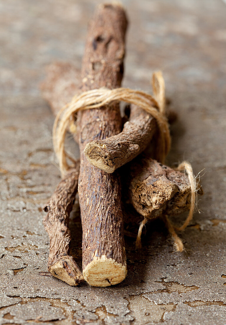 Liquorice roots tied together
