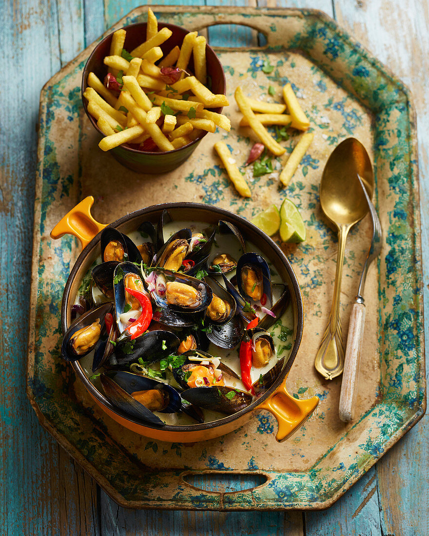 Thai Mussels And Fries