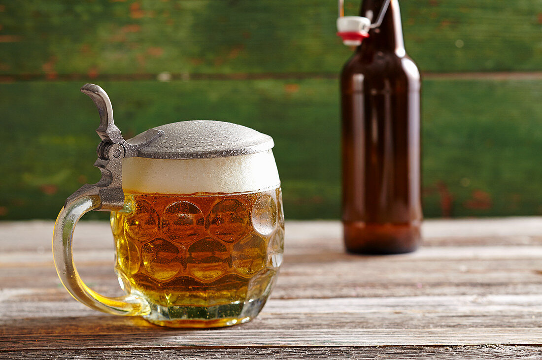 Light lager in a pitcher