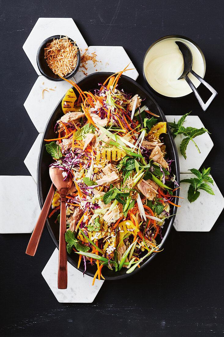 Tropical tuna and pineapple salad