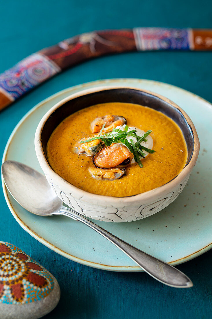 Creamed Mussel soup (Australia)