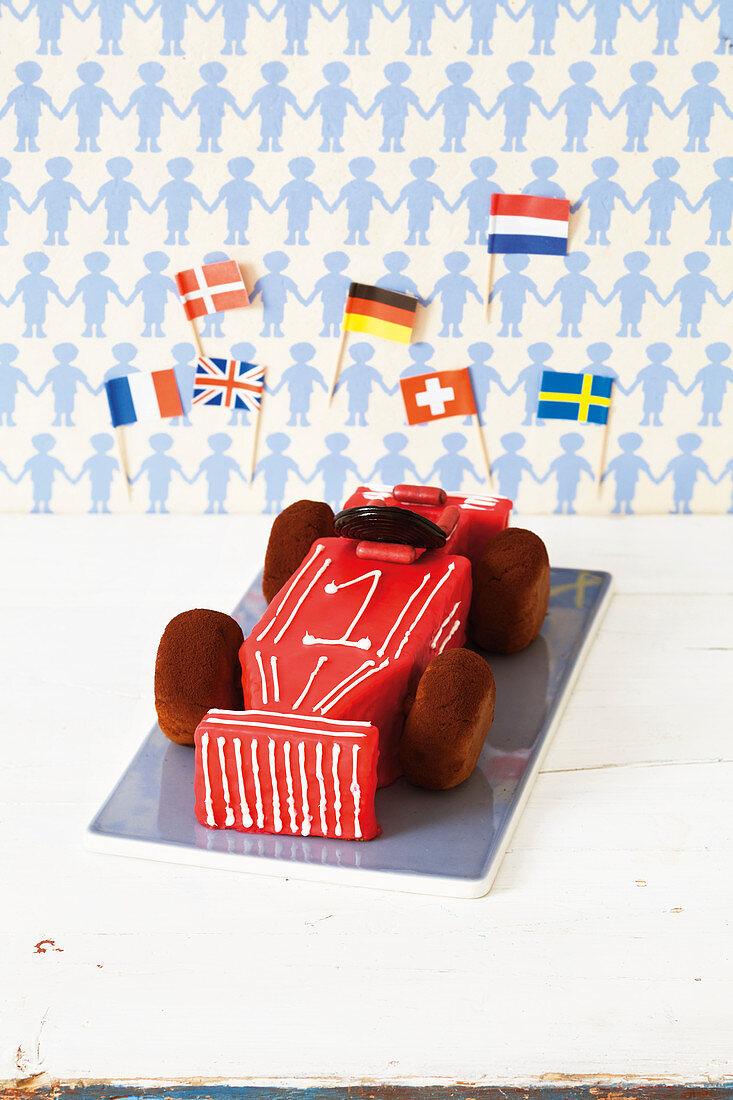 A racing car cake