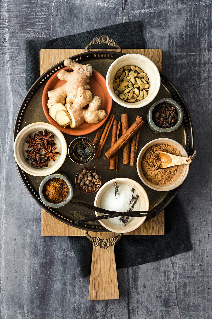 Basic spices for baking