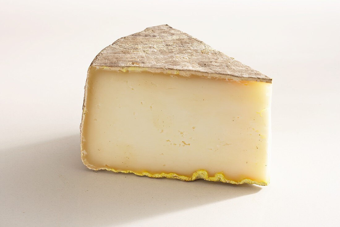 A piece of French hard sheep's cheese