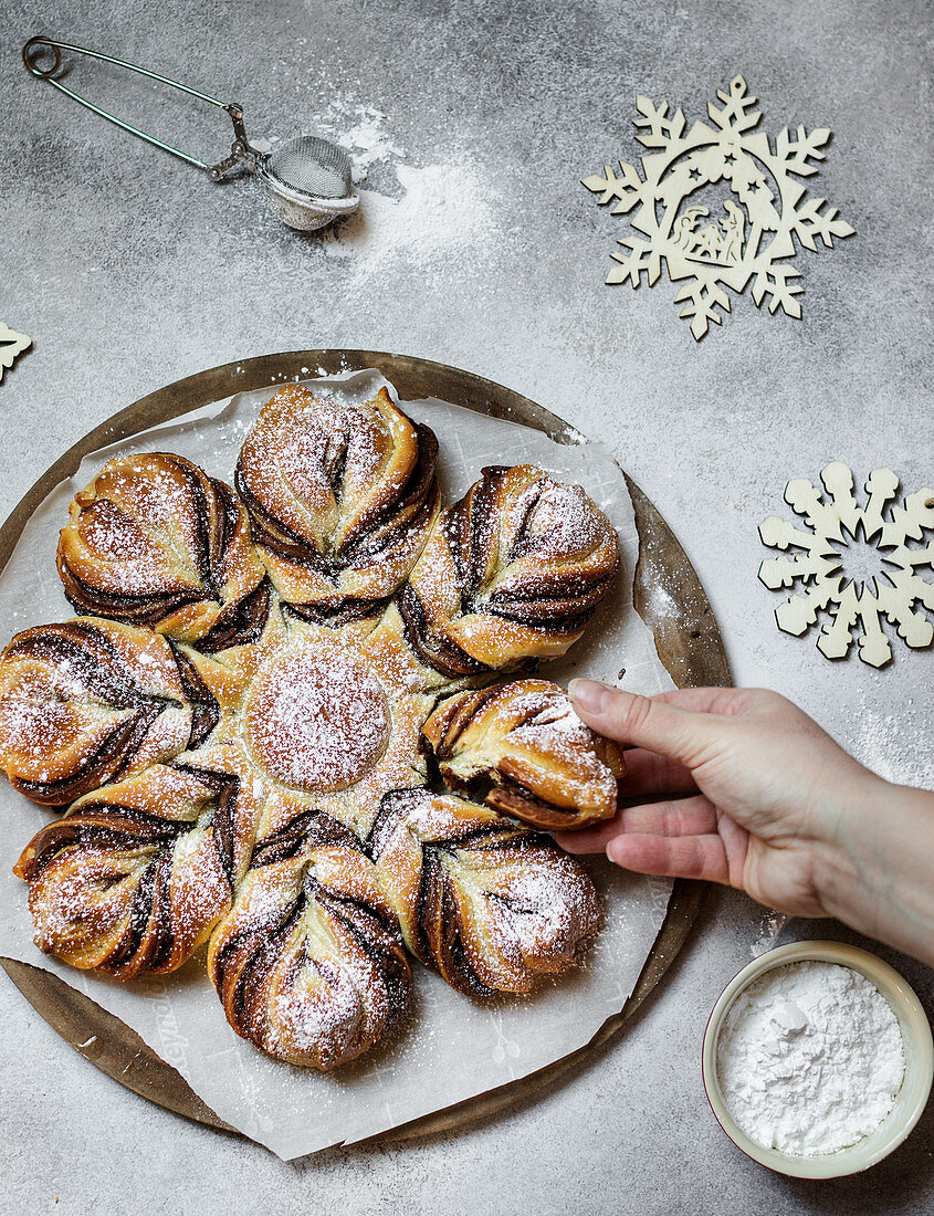Star bread with nutella