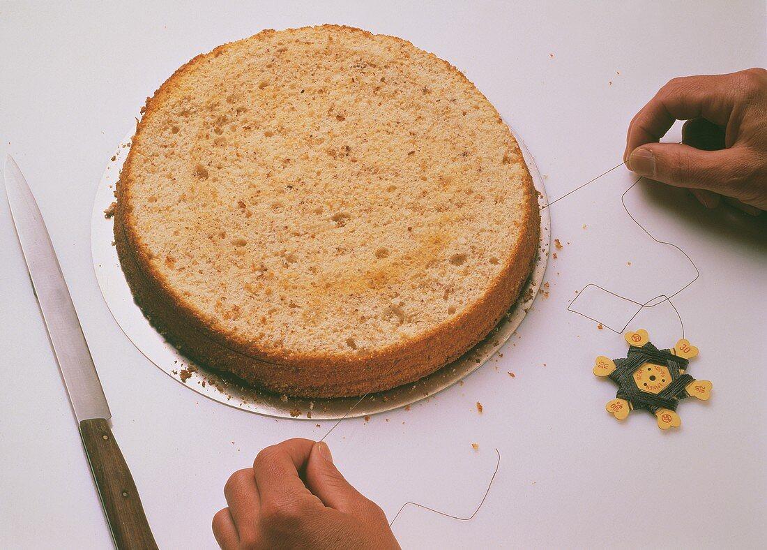 Dividing a deep sponge base into several layers