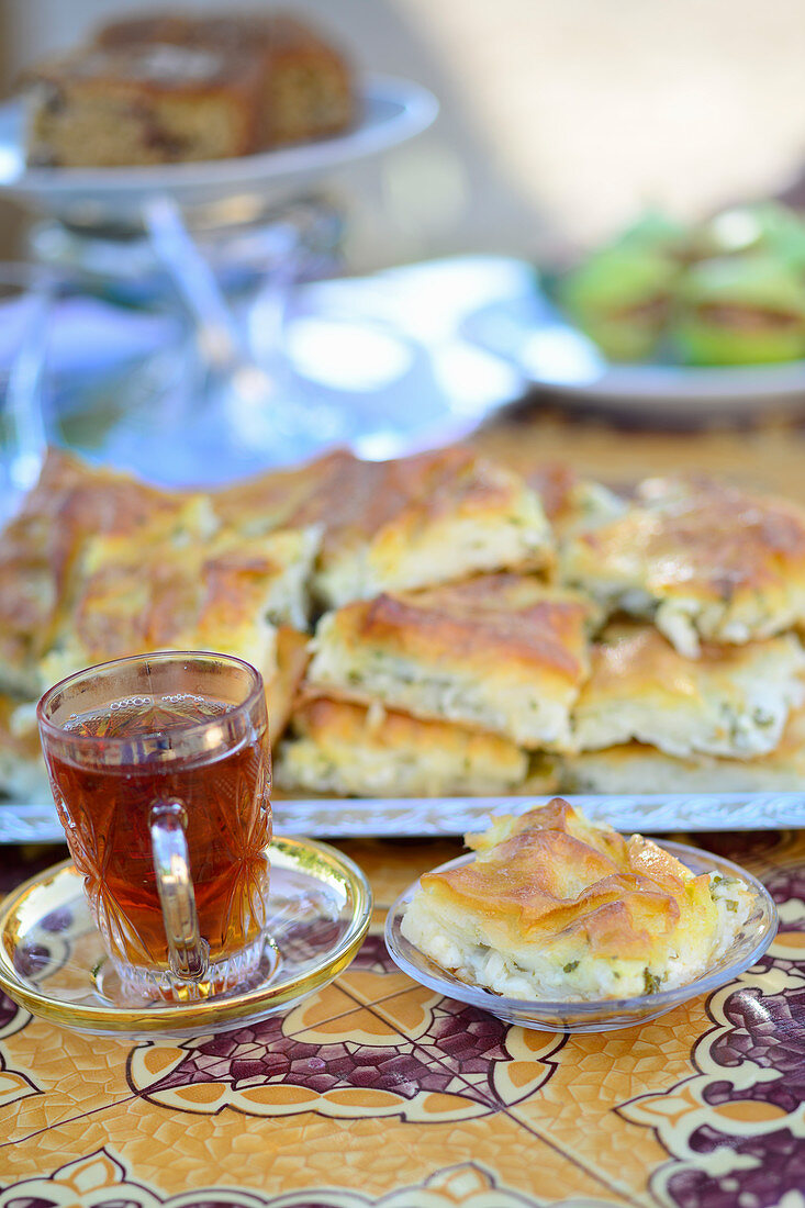Turkish potato böreks