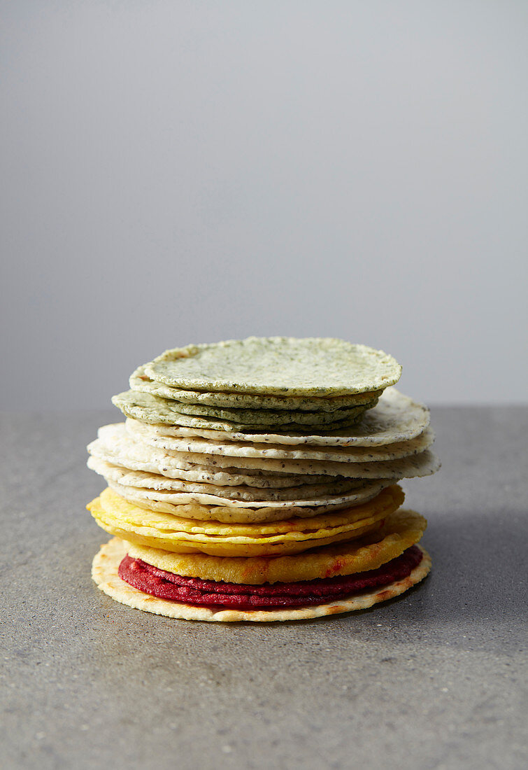 Coloured tortillas