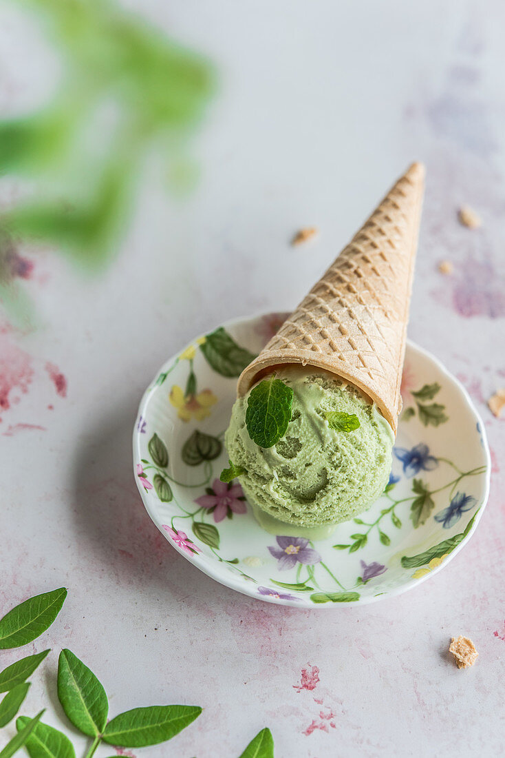 Mint ice cream