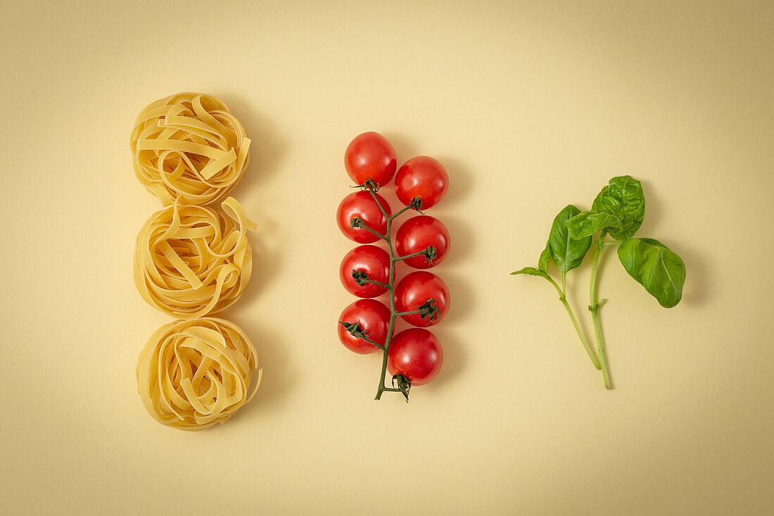 Main traditional ingredients of Italian cuisine