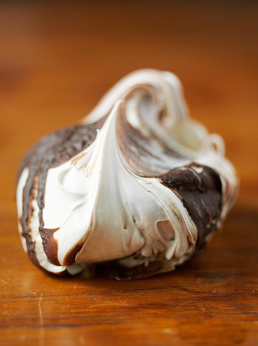 A chocolate meringue