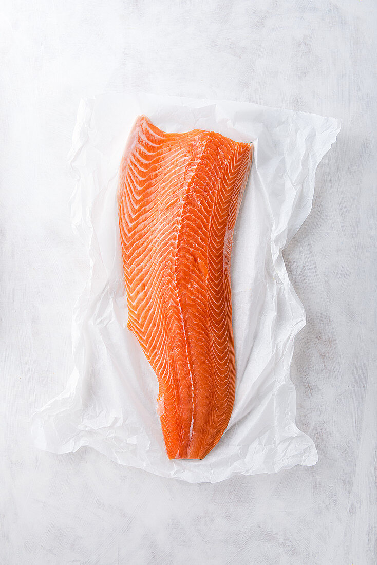 A side of fillet of salmon