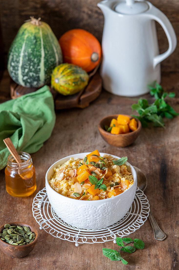 Millet porrige with pumpkin