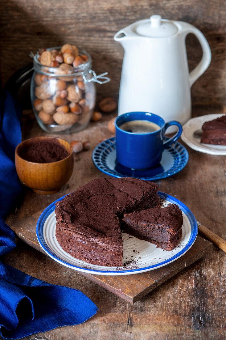Flourless chocolate cake with nut flour