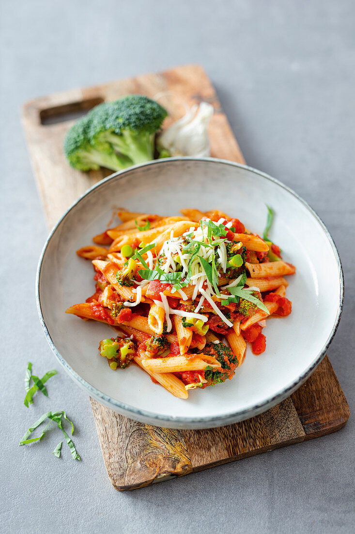 One-pot pasta with broccoli