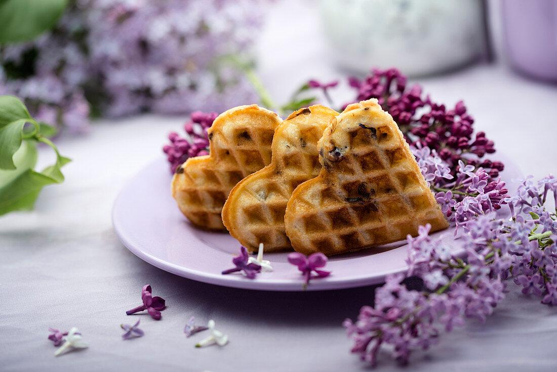 Lilac waffles