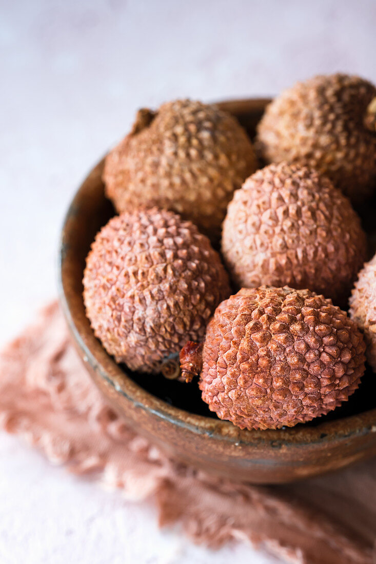 Lychees in the bowl