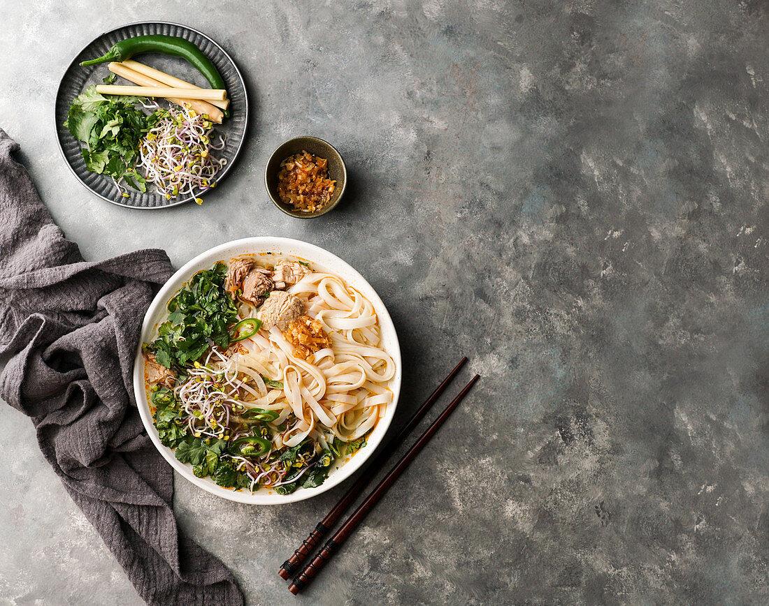 Bun Bo Hue - Vietnamese beef noodle soup