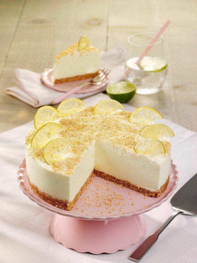 Limetten-Cheesecake ohne Backen