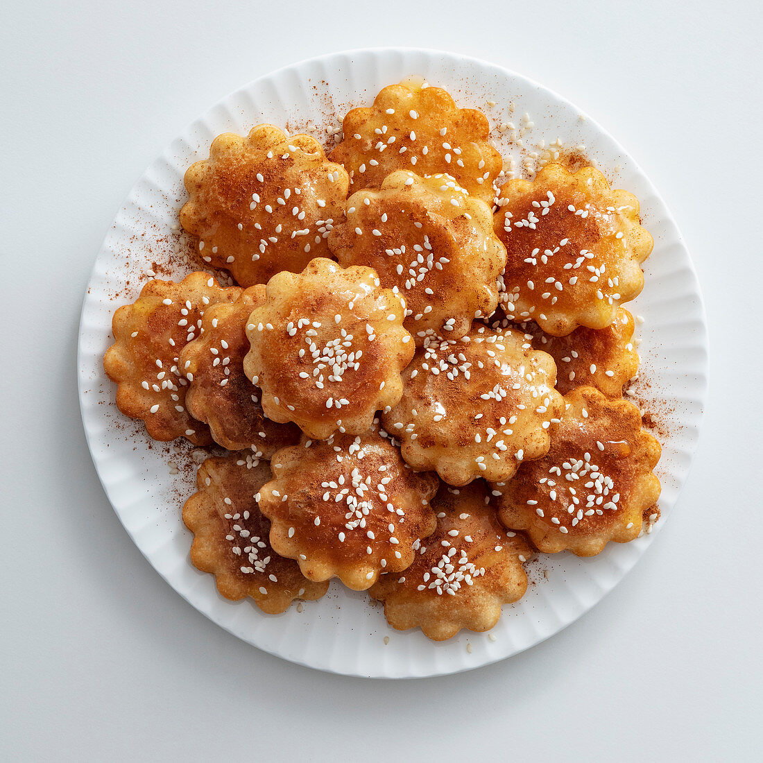 Yak Kaw (deep-fried ginger pastries with honey syrup, Korea)