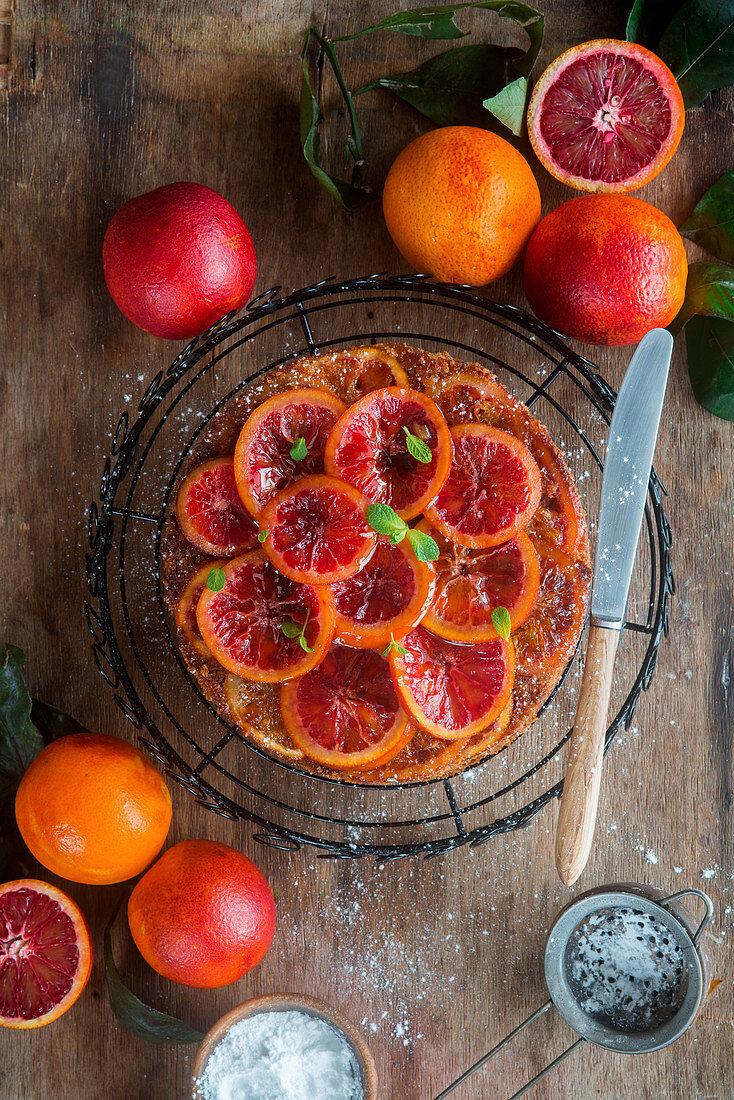 Blood orange cake almond cake