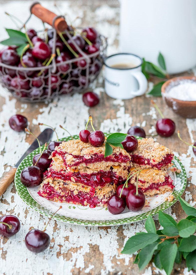 Cherry oat bars
