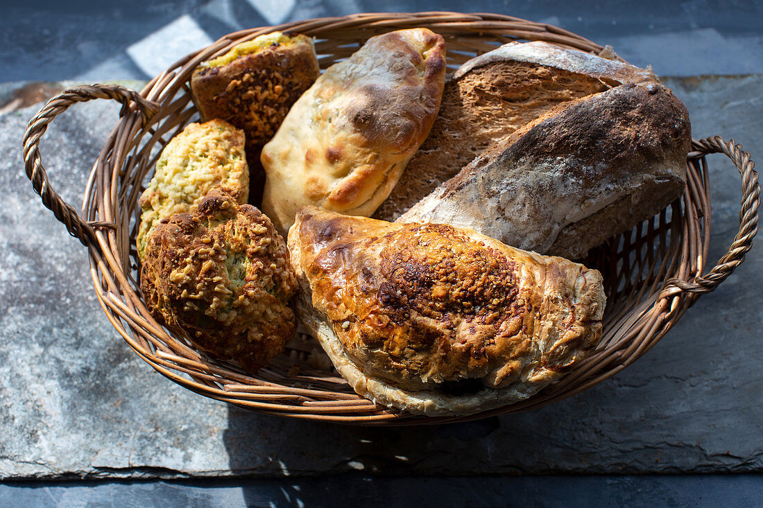 Artisan bread, pasty and scones