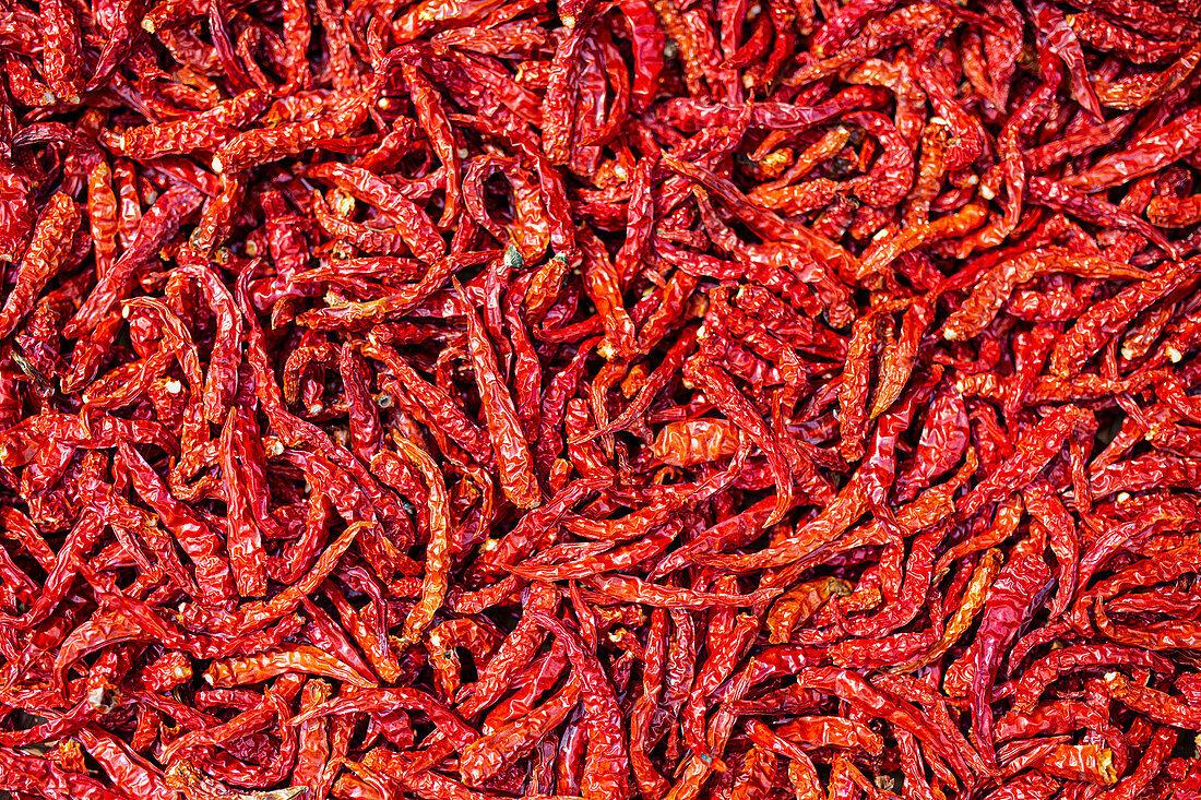 Dried birds eye chillies (Thailand)