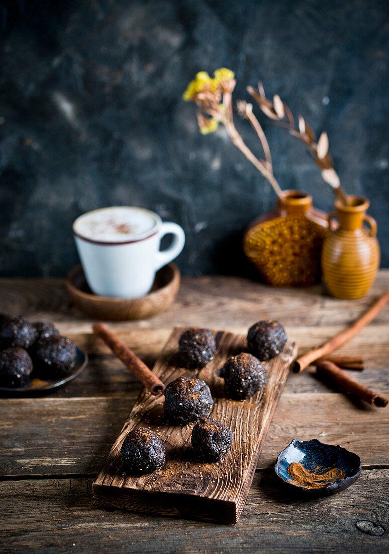 Date cocoa pralines