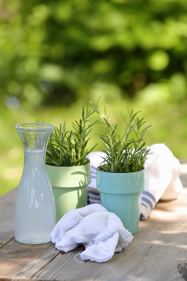 Whey and fresh rosemary for circulation-enhancing arm wraps