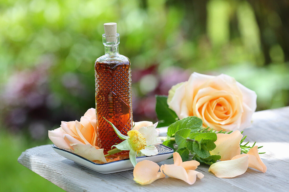 Rosemary, mint and rosewater facial toner