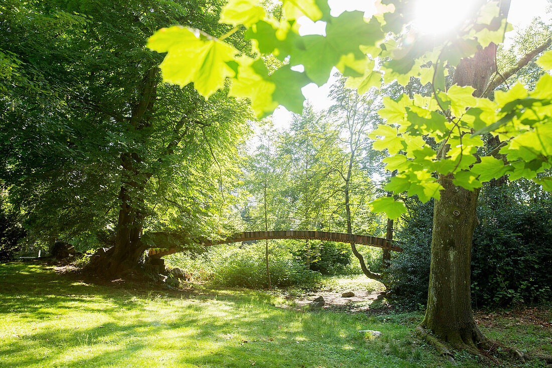 A bridge in a park, Mettlach, Saarland, Germany