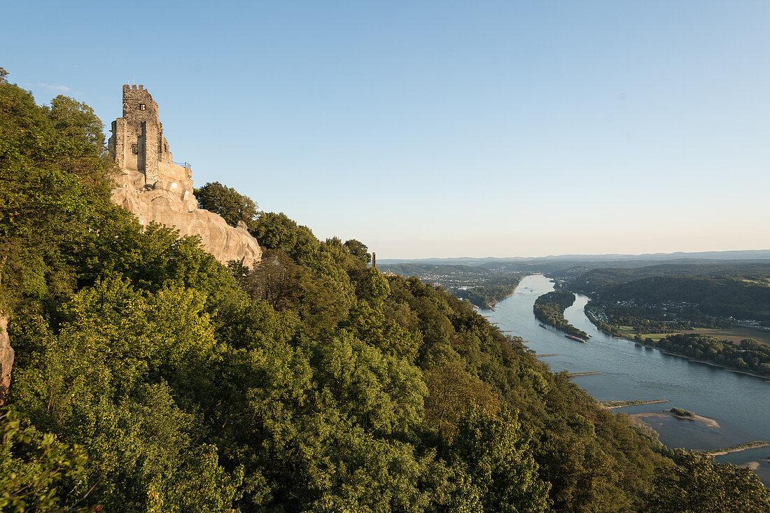 Der Drachenfels, Siebengebirge am Rhein, Deutschland