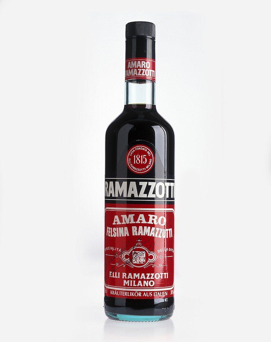 A bottle of Ramazzotti (herb liqueur)