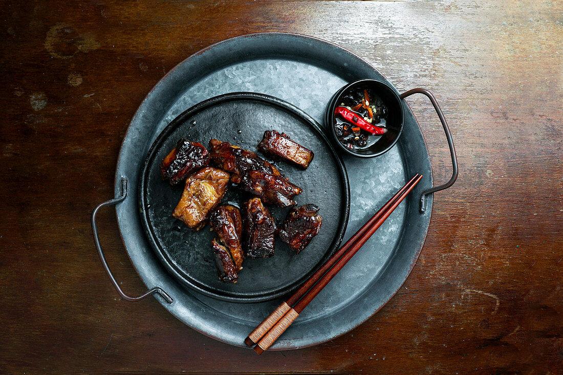 Caramelized pork ribs (China)