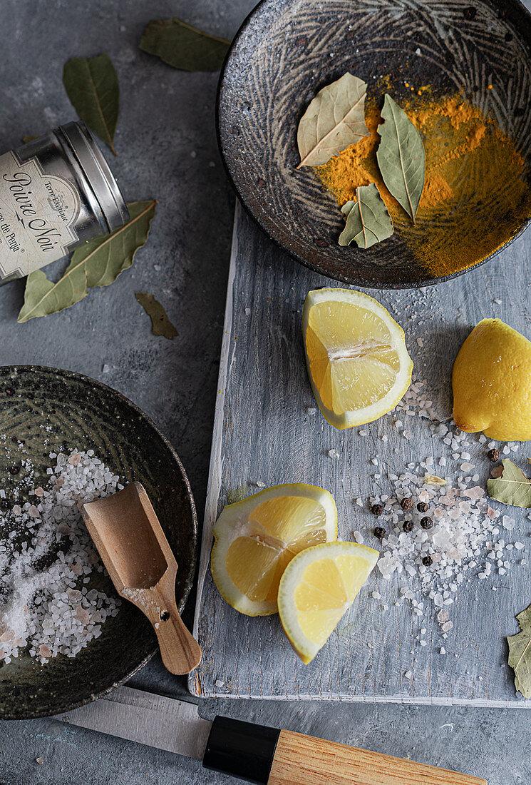 Lemons ready for preserving