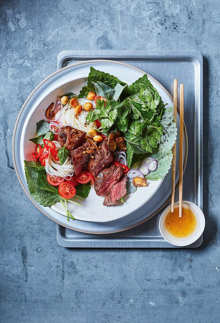 Thai salad with kangaroo