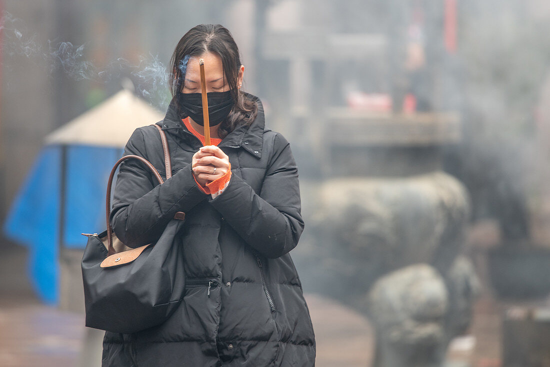 Prayers during Covid-19 outbreak in China, 2020