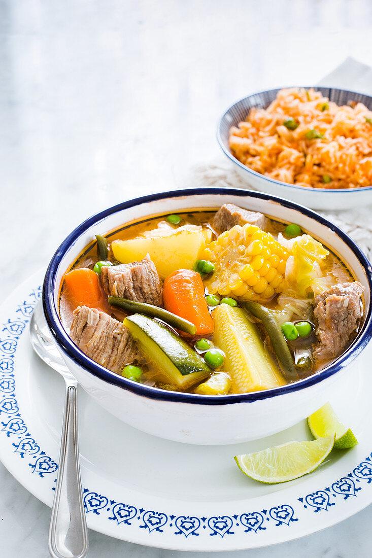 'Caldo de res' - Mexican beef stew