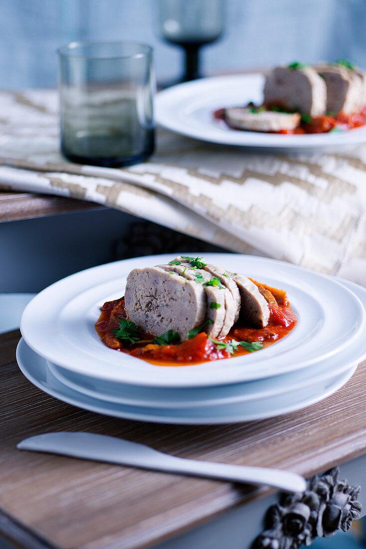 Salame cotto di magro (Geschmorte Fischpastete, Italien)