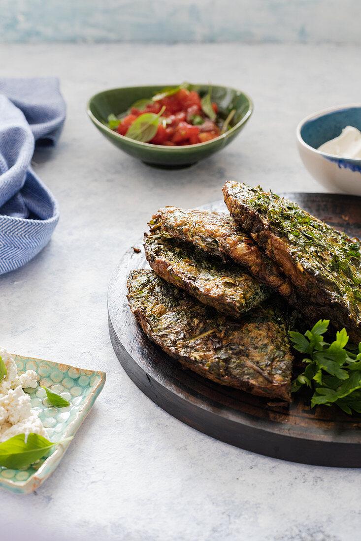 Kuku Sabzi - herby Iranian omelette
