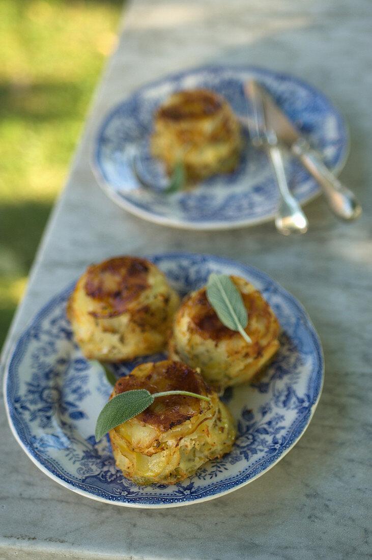 Potato cakes with sage