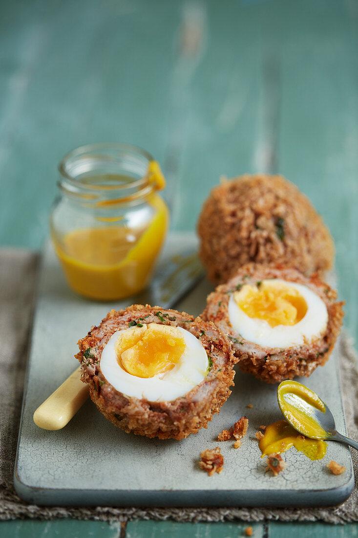 Chilli Scotch eggs