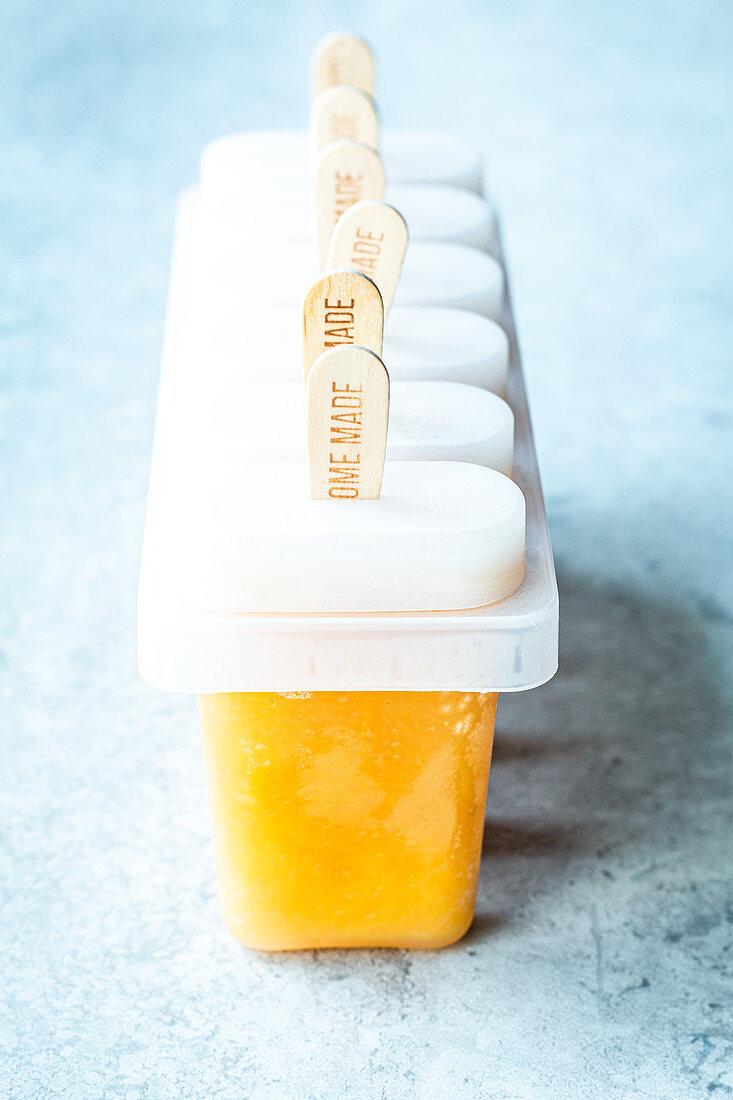 Apple and mango ice cream