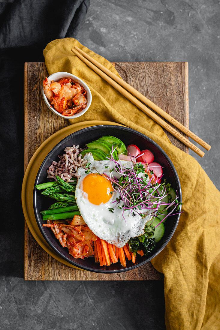 Bibimbap With Kimchi