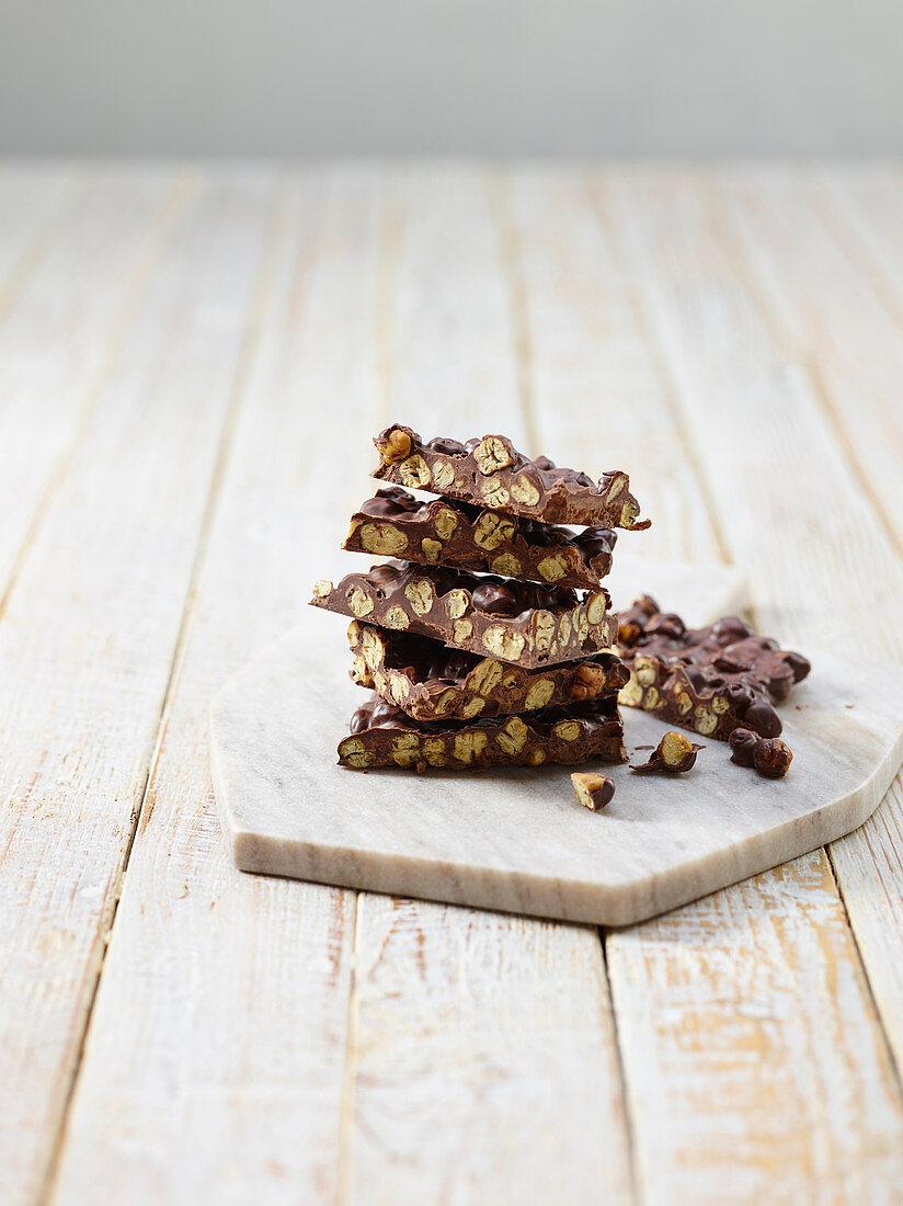 Homemade chickpea chocolate